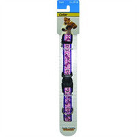 "NYLON DOG COLLAR - 10-16"" ADJUSTABLE MEADOWS PRINT"
