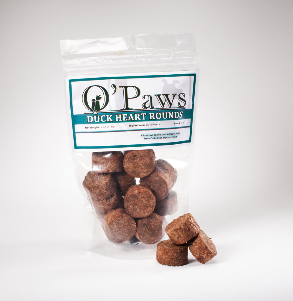 O'Paws FD Duck Heart Rounds