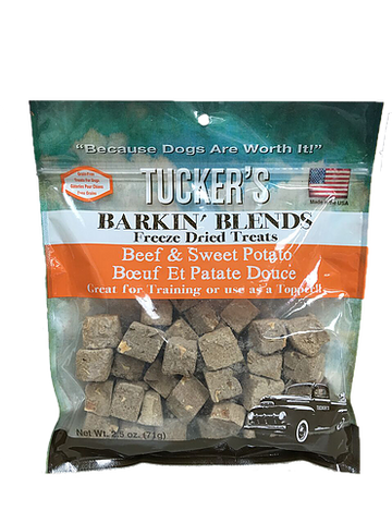 Tuckers Dog Barkin' Blends Beef & Sweet Potato  2.5oz