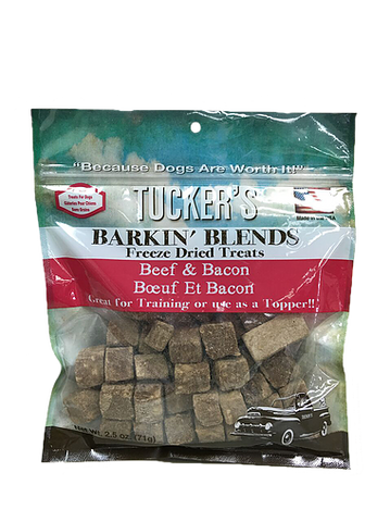 Tuckers Dog Barkin' Blends Beef & Bacon  2.5oz