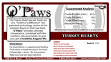 O'Paws Turkey Hearts - sliced