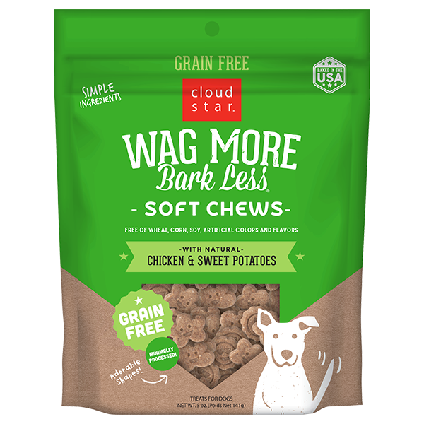 CS Wag More Bark Less GF Soft & Chewy Dog Treats: Chicken & Sweet Potato