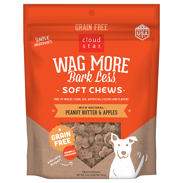CS Wag More Bark Less GF Soft & Chewy Dog Treats: Peanut Butter & Apples