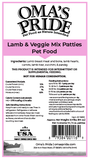 Lamb & Veggie Mix -  Patties