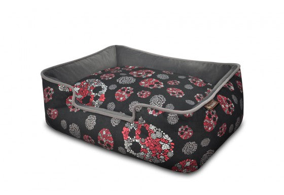 Skulls & Roses Lounge Dog Bed - P.L.A.Y.