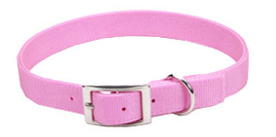 Nylon Double Ply Dog Collar - Pink
