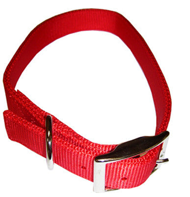 Nylon Double Ply Dog Collar - Red