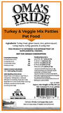 Turkey & Veggie Mix - Patties