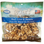 Tucker's Wag-a-Rounds Beef Liver & Banana Treat 6oz