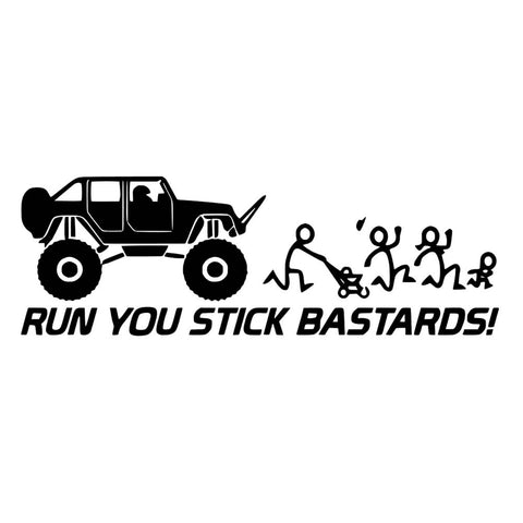 Running over Stick Family - JK