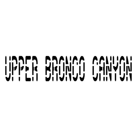 Upper Bronco Canyon Trail Badge