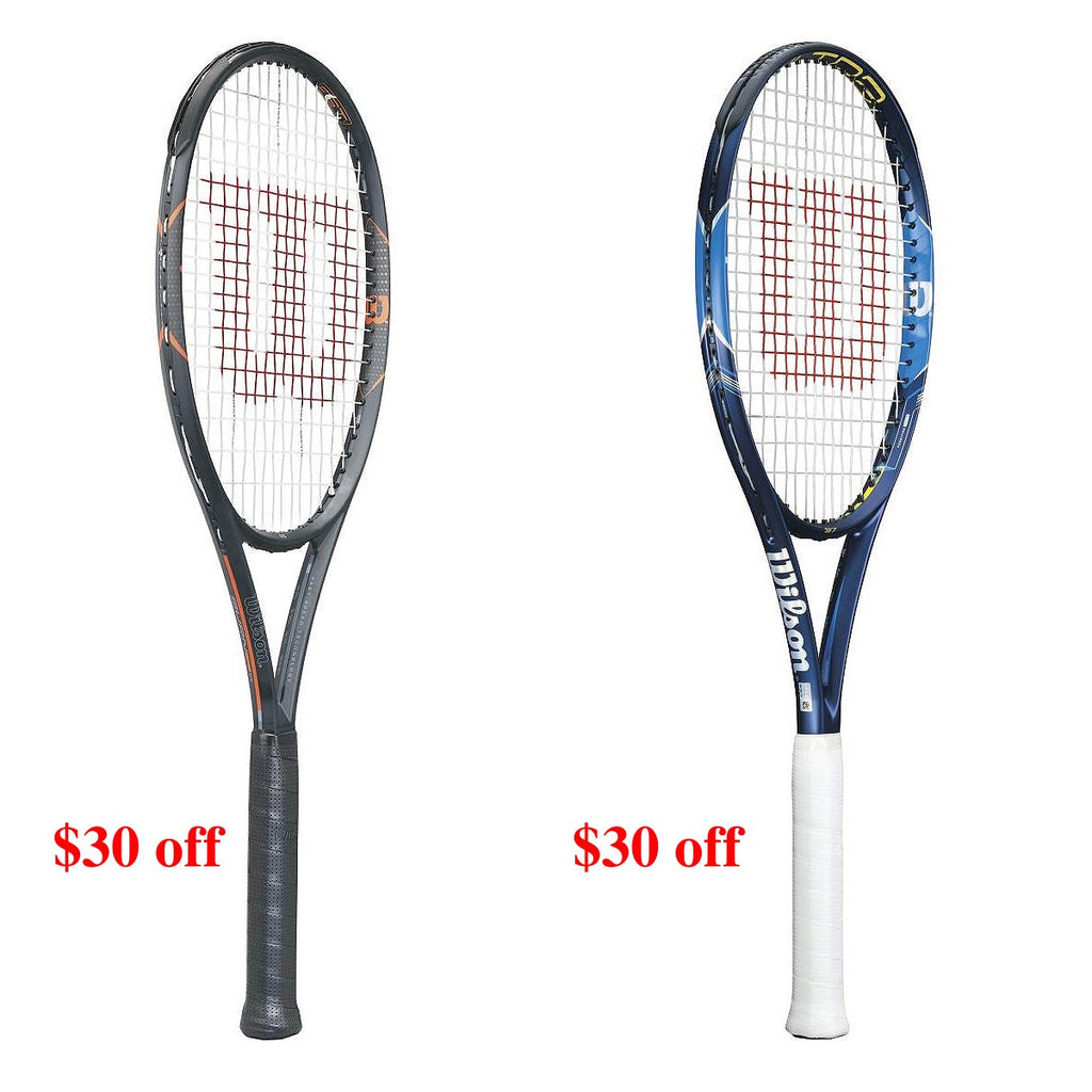 $30 off all Wilson Ultra and Burn FST frames