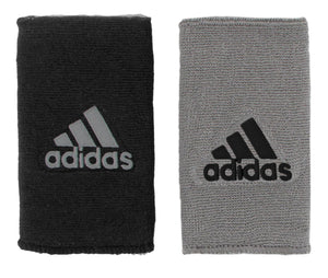 Adidas Interval Reversible Large Wristbands - Black/Aluminum 5133926