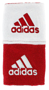 Adidas Interval Reversible Wristbands - Red/White 5133981