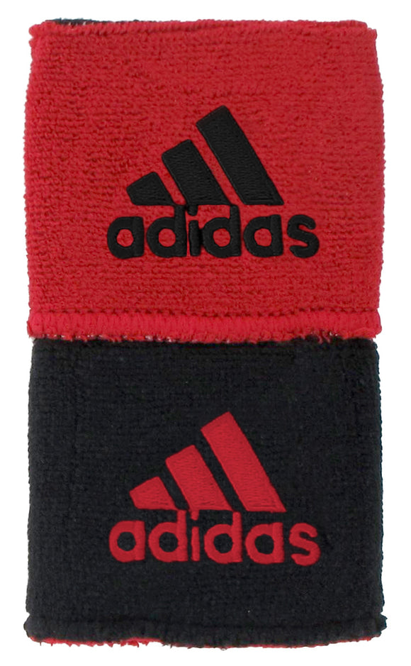 Adidas Interval Reversible Wristbands - Black/Red 5134772