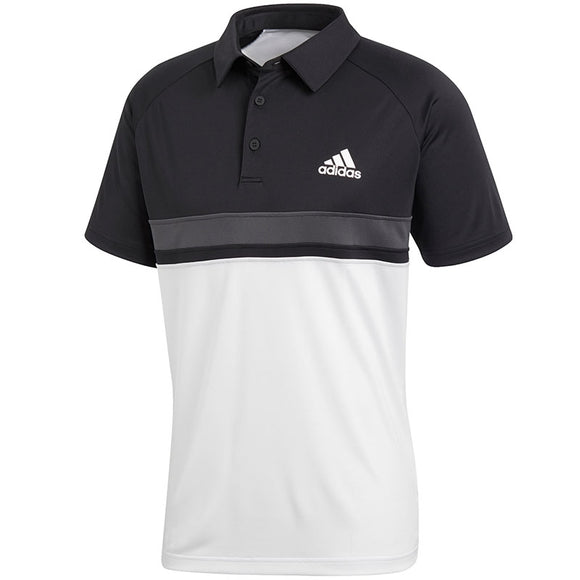 Adidas Men's Polo Colorblock Club - Black/White CE1420