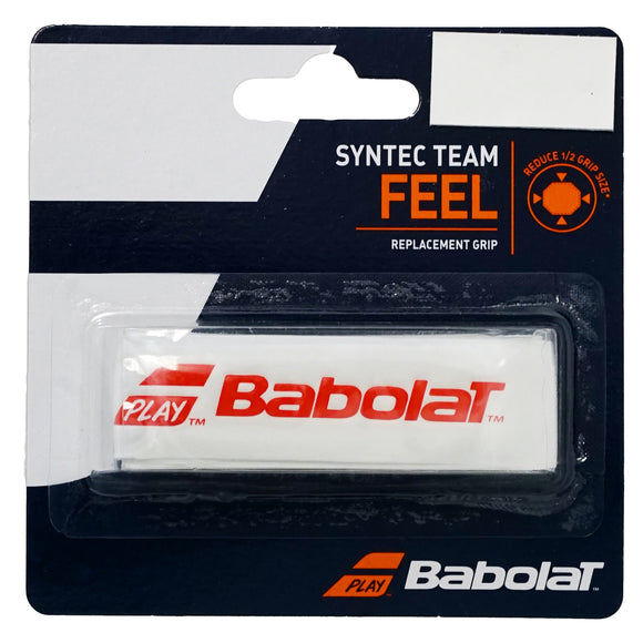 Babolat Syntec Team White/Red tennis replacement grip - VuTennis