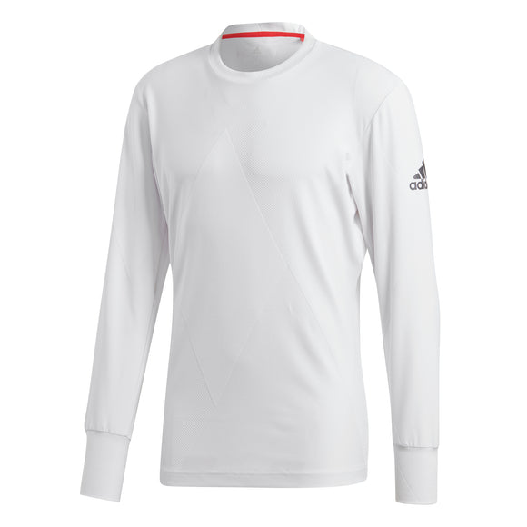 adidas Men's T-shirt Barricade Long Sleeves - White CY3331 - VuTennis