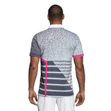 adidas Men's Polo Seasonal - Grey/Shock Pink CY3334 - VuTennis