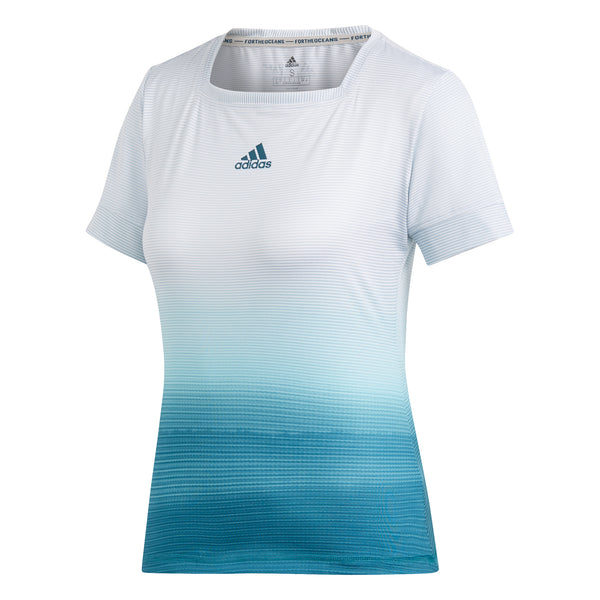 adidas Women's T-shirt Parley White/Blue DP0270 - VuTennis