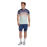 adidas Men's T-shirt FreeLift HEAT.RDY - Dash Green / Tech Indigo FK0803