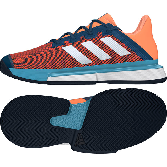 adidas SoleMatch Bounce men tennis shoes - Navy/White/Orange FX1733