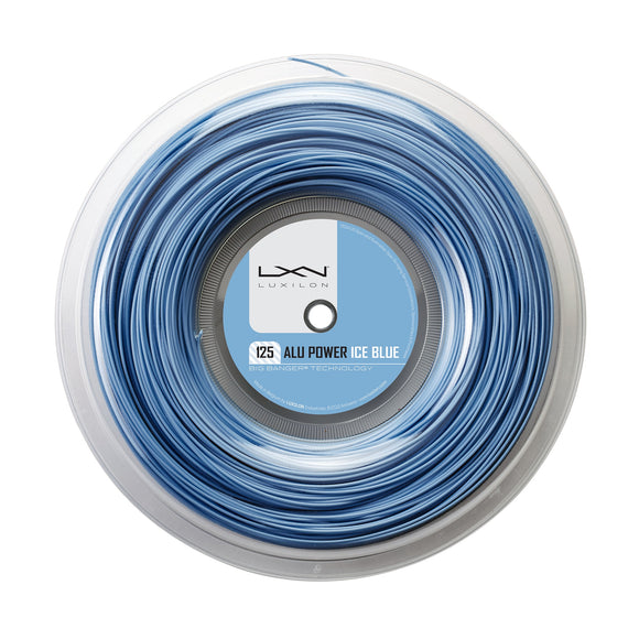 Luxilon ALU Power 125 Ice Blue 220m/726ft tennis string reel