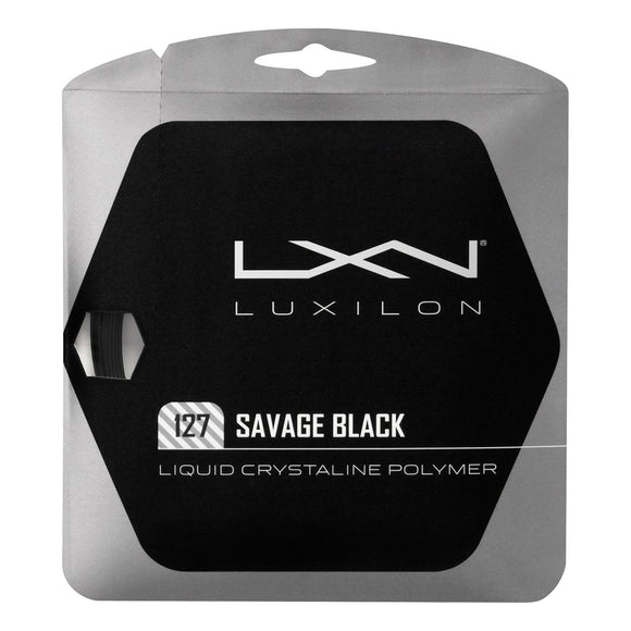 Luxilon Savage Black 127 tennis string set