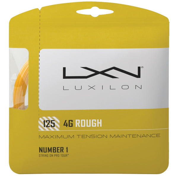 Luxilon 4G Rough 125 tennis string - VuTennis