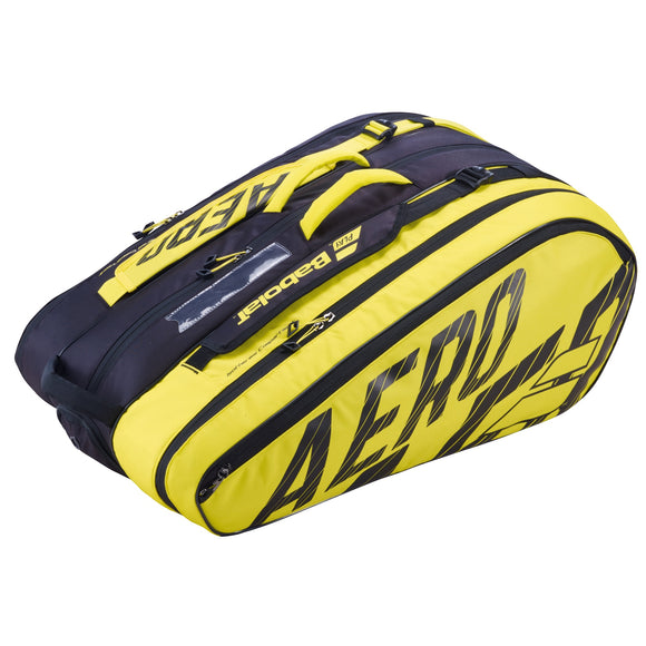 Babolat Pure Aero Yellow 12 pack tennis bag 185697