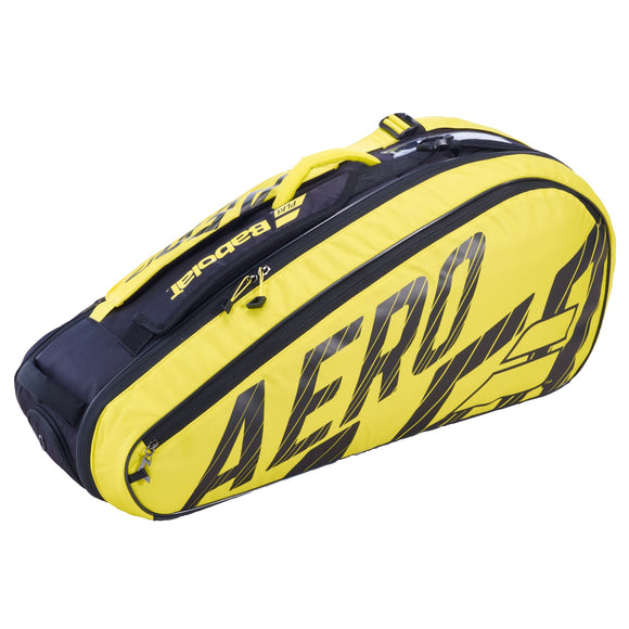 Babolat Pure Aero Yellow 6 pack tennis bag 182476