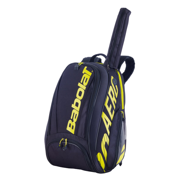 Babolat Pure Aero Black/Yellow backpack tennis bag 183727