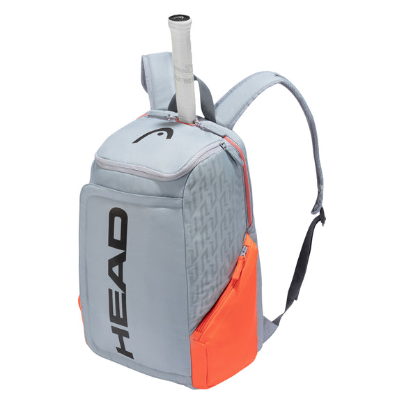 Head Rebel Radical tennis backpack Grey/Orange