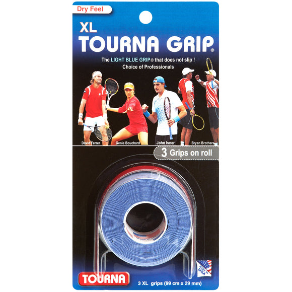 TOURNA GRIP ORIGINAL XL 3-pack tennis overgrip - VuTennis