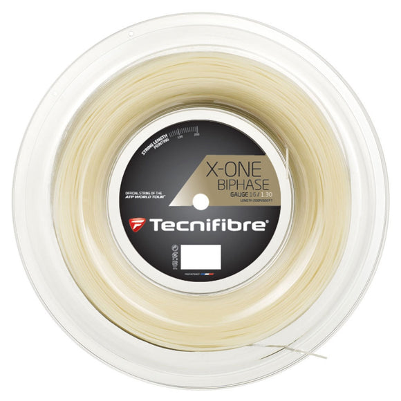 Tecnifibre X-One Biphase 200m/660ft reel + Free Luxilon tennis string