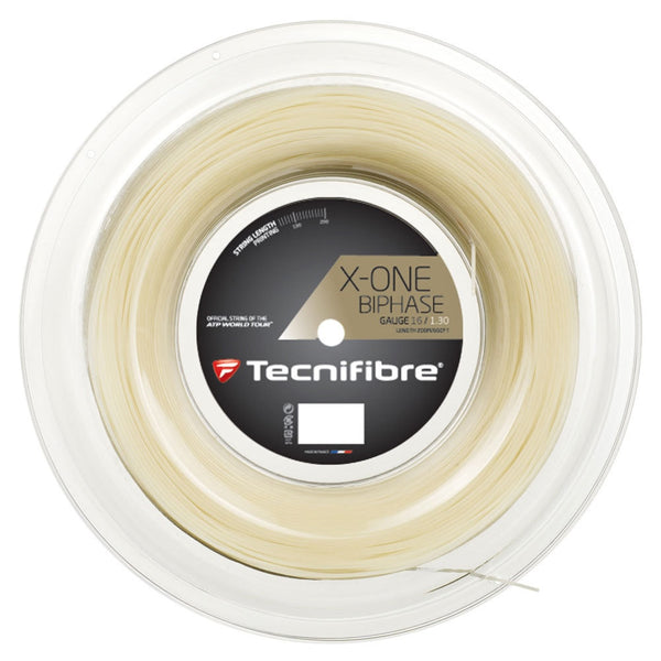 Tecnifibre X-One Biphase 200m/660ft tennis string reel - VuTennis