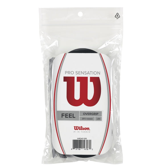 Wilson Pro Sensation Black 30-pack tennis overgrip - VuTennis