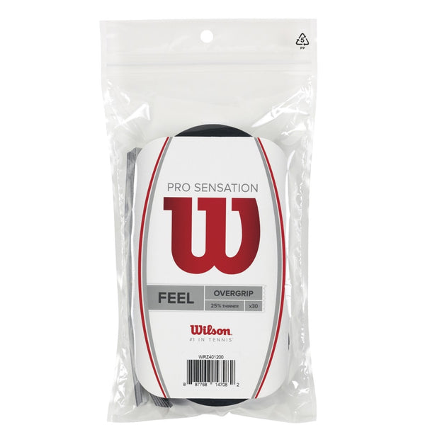 Wilson Pro Overgrip Sensation Black 30 pack - VuTennis