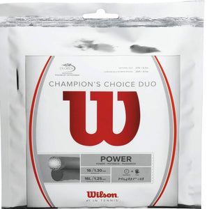 Wilson Champion Choice Hybrid tennis string [Wilson Natural Gut & Luxilon ALU Power Rough] - VuTennis