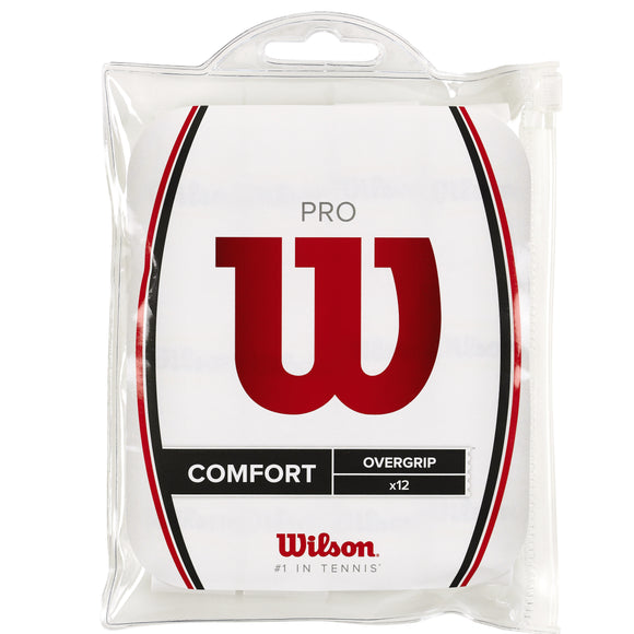 Wilson Pro White 12-pack tennis overgrip - VuTennis