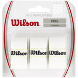 Wilson Pro Perforated 3-pack tennis overgrip - VuTennis