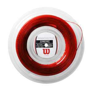Wilson Sensation Plus 16g 660ft/200m Red tennis string reel - VuTennis
