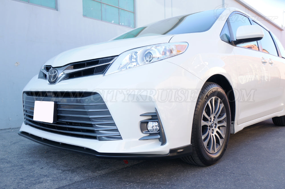 CityKruiser CK V2 Front Lip for 2018 & UP Toyota Sienna SE XLE LE