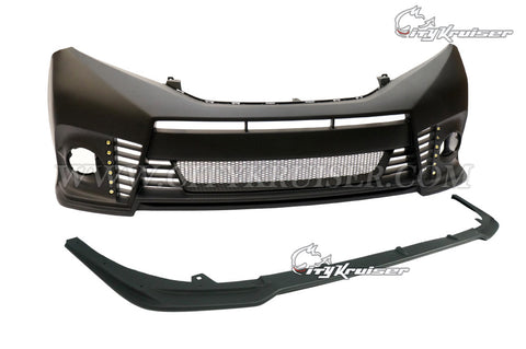 CityKruiser V1 Front Bumper (with Optional Lip) w/ 12 LED For 2011-2017 Toyota Sienna (All Models)