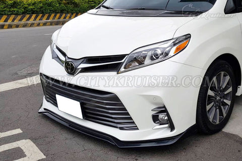 CityKruiser MP Front Lip for 2018 & UP Toyota Sienna SE XLE LE (ABS)