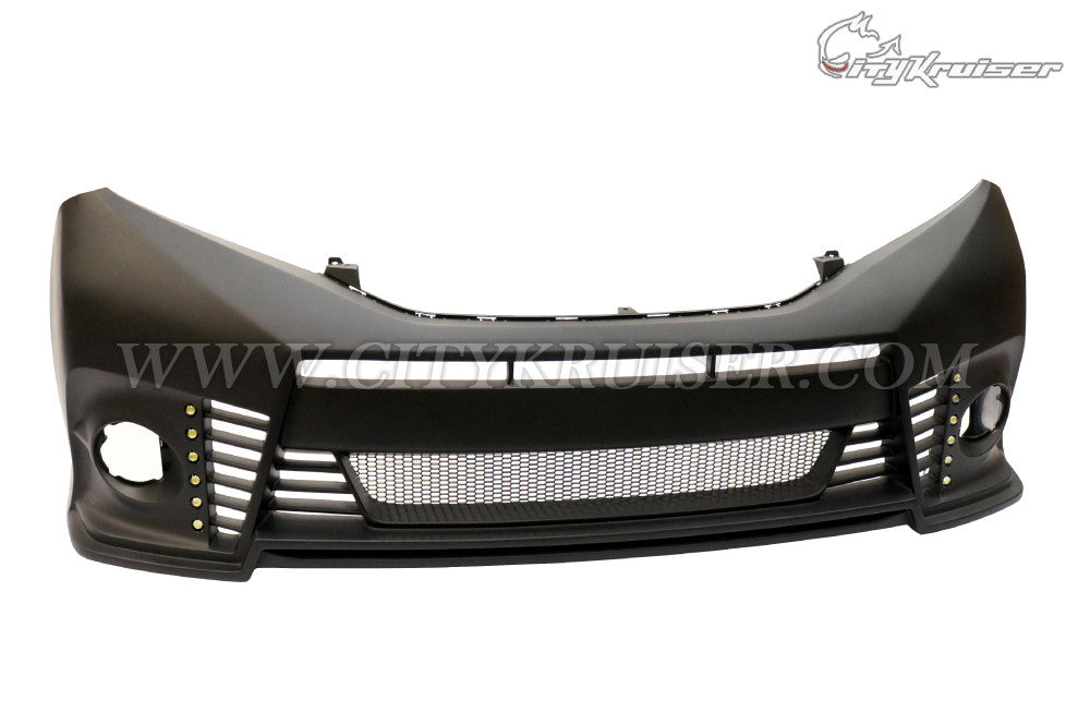 CityKruiser V1 Front Bumper (without Optional Lip) w/ 12 LED For 2011-2017 Toyota Sienna