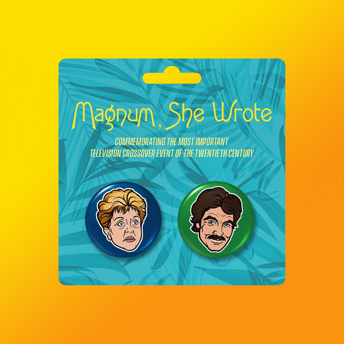 Magnum, She Wrote Buttons 2-Pack