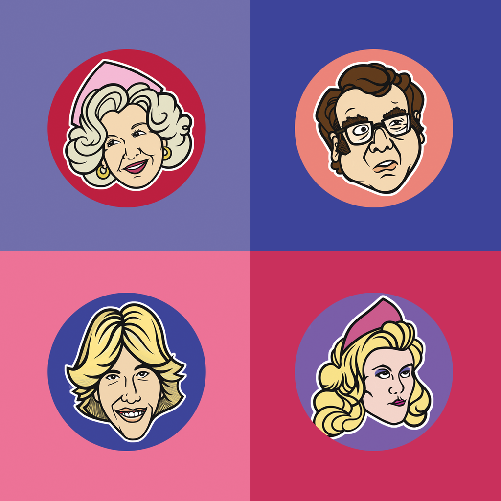 Mel's Diner Buttons 8-Pack - Series 1 & 2