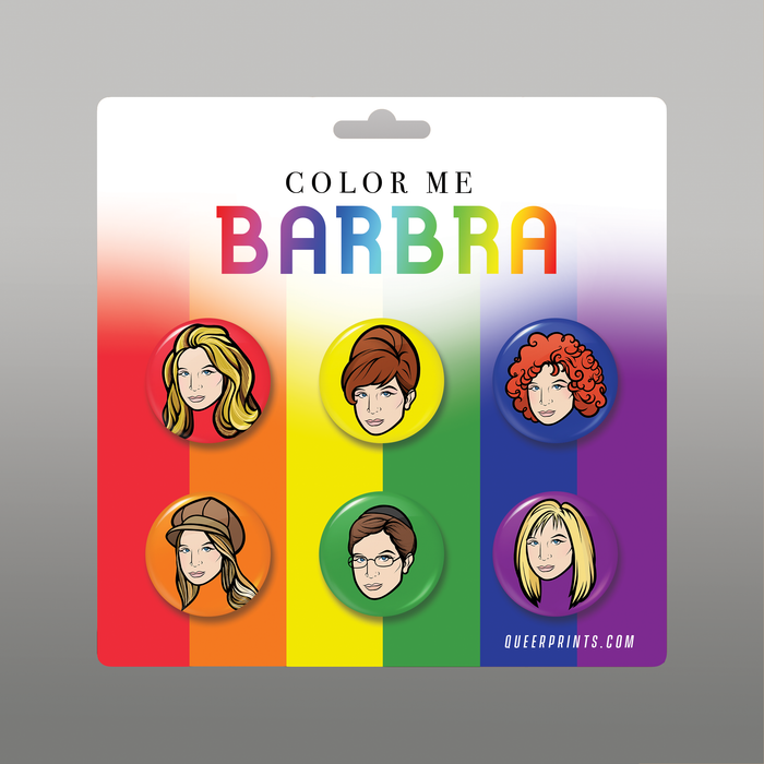 Color Me Barbra Buttons 6-Pack