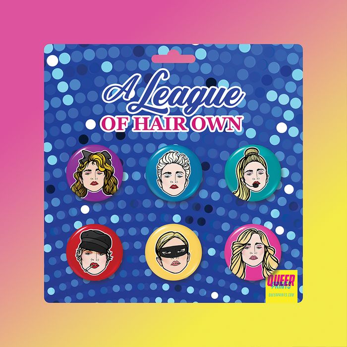 A League of Hair Own Buttons 6-Pack